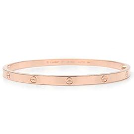 Authentic Cartier Love Bracelet SM Bangle K18 750PG Rose Gold #17 Used F/S