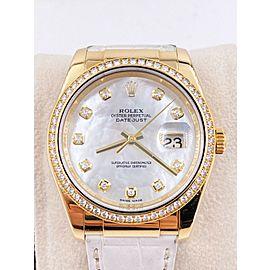 Rolex Datejust 116188 MOP Diamond Dial Diamond Bezel 18K Yellow Gold