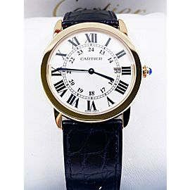 Cartier Ref 2988 Ronde Solo W6700455 18K Yellow Gold Stainless Steel