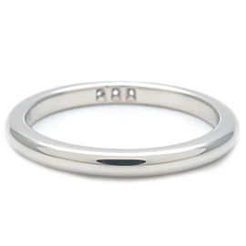 Authentic Tiffany&Co. Classic Band 3P Diamond Ring Platinum US4.5 EU48 Used F/S