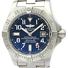 Polished BREITLING Avenger Seawolf Steel Automatic Mens Watch A17330