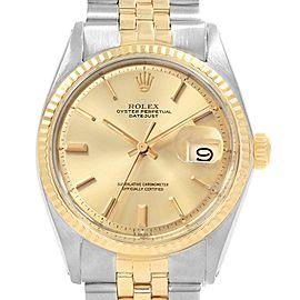 Rolex Vintage Datejust 1601 34mm Mens Watch