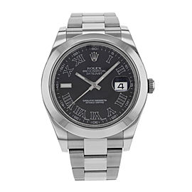 Rolex Datejust II 116300 BKRIO 41mm Mens Watch