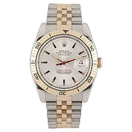 Rolex Turnograph 166261 Stainless Steel and 18K Rose Gold 36mmm Automatic Mens Watch