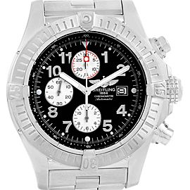 Breitling Aeromarine Super Avenger Black Dial Mens Watch A13370