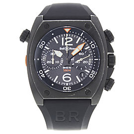 Bell & Ross Marine BR0294-CHR-BL-CA 44mm Mens Watch