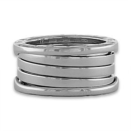 Bvlgari 18K White Gold B.Zero 4 Band Ring Size 6.25