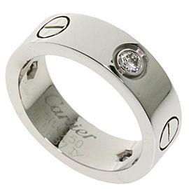 CARTIER half Diamond 18k White Gold love Ring