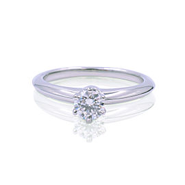 Tiffany & Co. Platinum with 0.30ct Solitare Diamond Ring Size 4