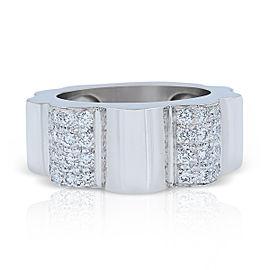 Chanel 18K White Gold 0.50ctw Diamond Ring Size 6.75
