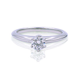 Tiffany & Co. Platinum 0.23ct Solitare Diamond Engagement Ring Size 4