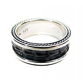David Yurman Armory Sterling Silver Narrow Band Ring Size 10