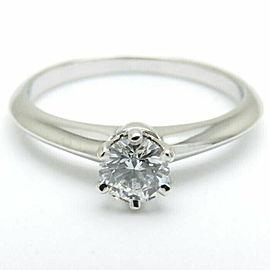 TIFFANY&CO 950 Platinum Solitaire One Diamond Ring
