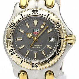 Polished TAG HEUER Sel 200M Gold Plated Steel Ladies Watch WG1320