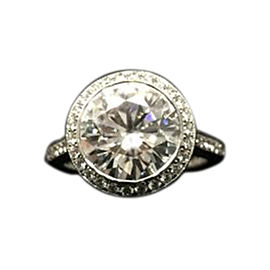 18K White Gold & 0.42ct Diamond Engagement Ring Size 4.25