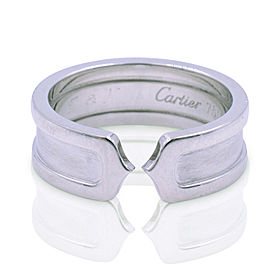 Cartier C De Cartier 18K White Gold Ring Size 6.5