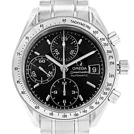 Omega Speedmaster Chrono 39mm Black Dial Steel Watch 3513.50.00 Card
