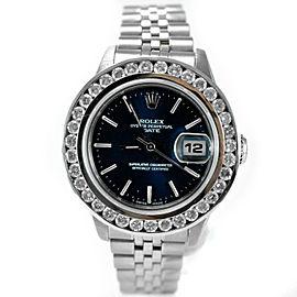 99e5a952db1 Rolex 69240 1.63 Ct Diamond Bezel Oyster Perpetual Date Steel Women s Watch