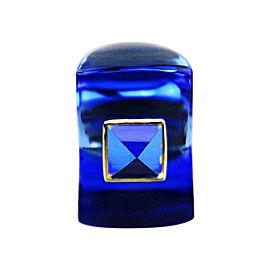 Baccarat 18K Yellow Gold Sapphire Crystal Ring U.S. 4.75 ; EU 49