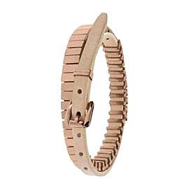 Michael Kors Rose Gold Double Wrap Leather Adjustable Bracelet
