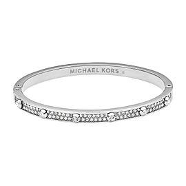 Michael Kors Silver Tone Astor Hinge Pave Bracelet