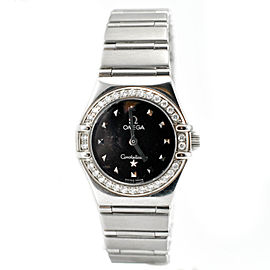 Omega Constellation 1465.51.00 My Choice Diamond Bezel Black Women's Watch