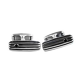 David Yurman Sterling Silver & Black Diamond Royal Cord Cufflinks