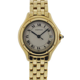 Cartier Cougar Ladies 18K Yellow Gold Quartz Watch