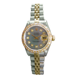 Rolex Datejust 25mm Yellow Gold, Stainless Steel & Diamond Watch