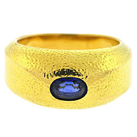 Tiffany & Co. Schlumberger 18K Yellow Gold Sapphire Men's Ring