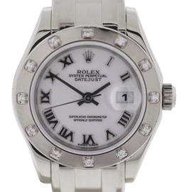 Rolex 80319 Pearlmaster Masterpiece 40mm 18K White Gold Diamond Watch