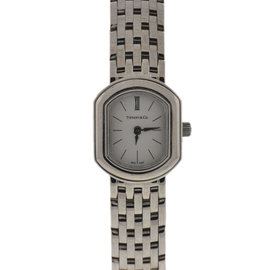 Tiffany & Co. 17mm 18K White Gold 750 Ladies Cocktail Watch