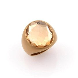 Pomellato Narciso 18K Yellow Gold Large Quartz Ring