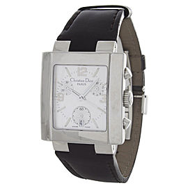 Christian Dior D101-100-AGIN2 Stainless Steel & Leather Silver Dial Quartz 30mm Womens Watch