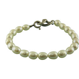 Tiffany & Co. 925 Sterling Silver Infinity Pearl Bracelet