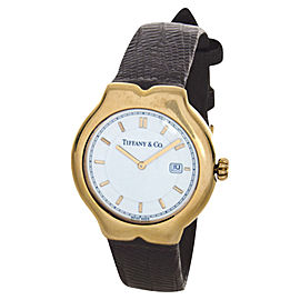 Tiffany & Co. Tesoro White Dial Brown Band Swiss Quartz Unisex Watch