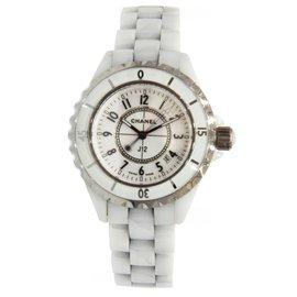 Chanel J12 Quartz H0968 White Ceramic Womens 33mm Watch
