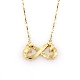 Tiffany & Co. Paloma Picasso 18K Gold Double Loving Hearts Pendant Necklace