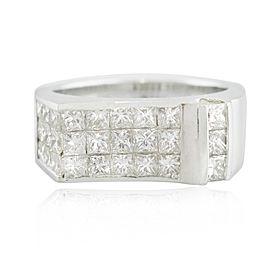White White Gold Diamond Ring Size 6.75