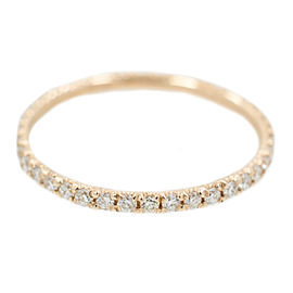 Rose Gold Diamond Womens Ring Size 6