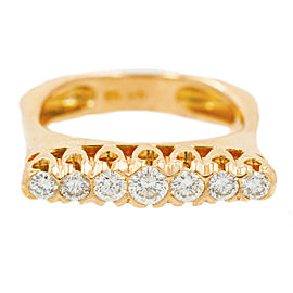 Rose Gold Diamond Ring Size 6.5
