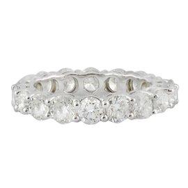 White White Gold Diamond Mens Ring Size 6.75