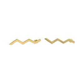 Tiffany & Co. Paloma Picasso 18K Yellow Gold Zig Zag Earrings