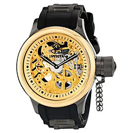 Invicta 17273 Russian Diver Gold Dial Silicone Mechanical Men's Watch