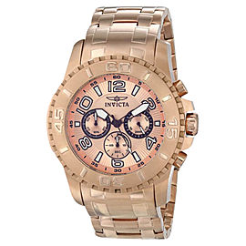Invicta 15023 Pro Diver Rose Dial Rose Gold Chronograph Men's Watch