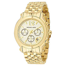 Michael Kors MK5172 Madison Chronograph Champagne Dial Gold-Tone Womens Watch