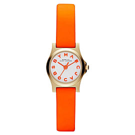 Marc by Marc Jacobs MBM1236 Orange Leather Strap Womens Watch