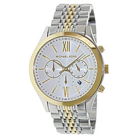 Michael Kors MK8306 Chronograph Bookton White Dial Two-tone Men's Watch
