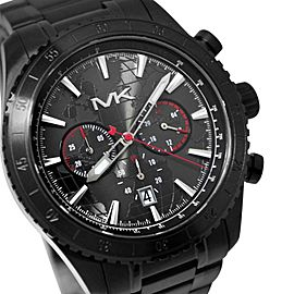 Michael Kors MK8352 Chronograph Black Stainless Steel Analog Quartz Mens Watch