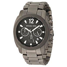 Michael Kors MK8243 Chronograph Cameron Gray Tone Titanium Bracelet Watch